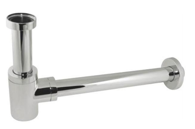 Металлический сифон для раковины