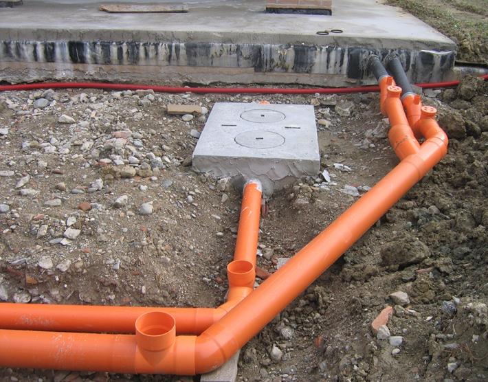 Наружная установка канализации